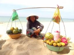 Dama som solgte frukt på Phu Quoc
