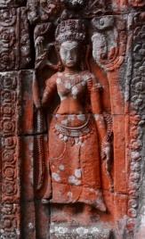 Dansende apsara i Tempel