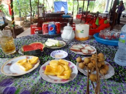 Prøvesmaking av eksotiske frukter