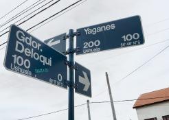 Ingen tvil om hvor vi er i verden, gatenavn med lengde- og breddegrader