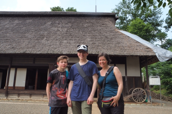 Foran tradisjonell japansk bygning