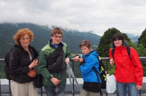 Da hadde vi krysset Tateyama. Fjellkjeden