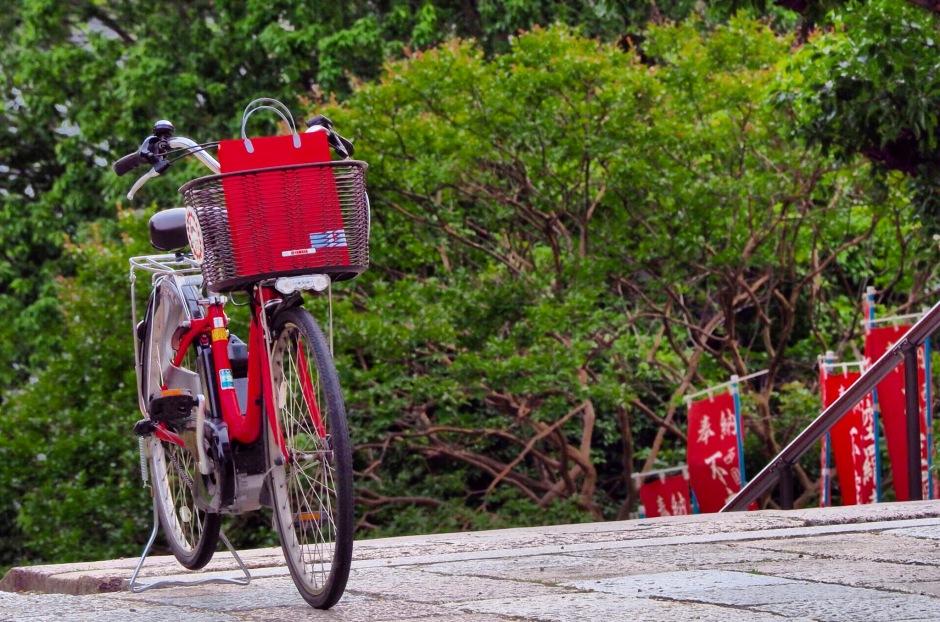 Sykkelen er mye brukt her