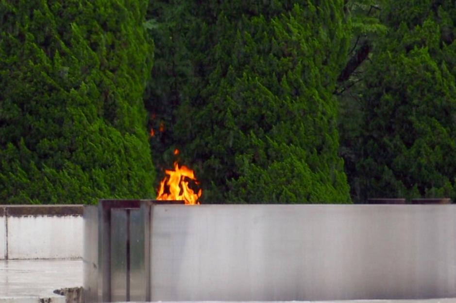 Ilden som brenner helt til alle atomvåpen er destruert, ført da skal ilden slukke.